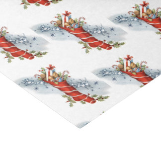 Papel De Seda Navidad del vintage que almacena el tejido del