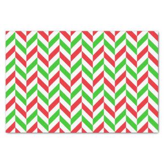Papel De Seda Navidad rojo y verde del modelo de la raspa de
