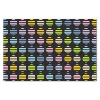 Papel De Seda Negro en colores pastel de los lunares y de las