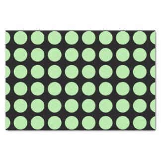 Papel De Seda Negro verde suave de los lunares