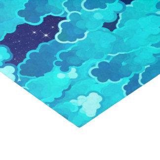 Papel De Seda Nubes japonesas, igualando el cielo, la turquesa y