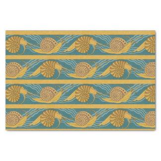 Papel De Seda Oro amarillo azul del trullo del caracol de la