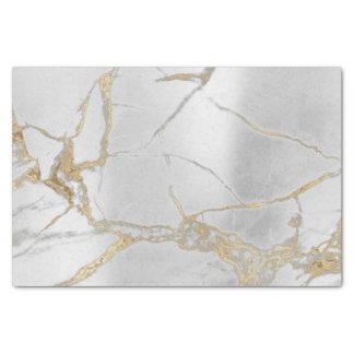 Papel De Seda Oro de mármol metálico de los gris plateados del
