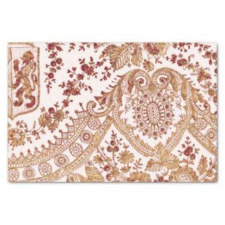 Papel De Seda Oro y rosas rojos del cordón