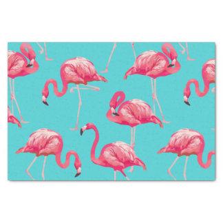 Papel De Seda Pájaros rosados del flamenco en fondo de la