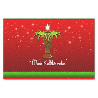 Papel De Seda Palmera de Mele Kalikimaka para Navidad