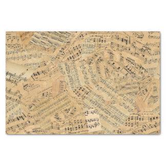 Papel De Seda Pedazos de la música ID389 del vintage