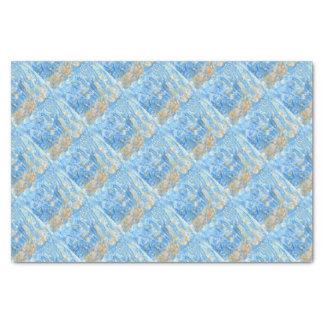 Papel De Seda Pintura azul abstracta