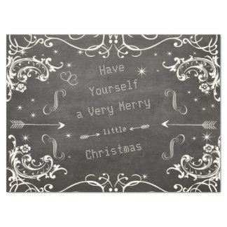 Papel De Seda Pizarra Felices pequeños Navidad