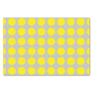 Papel De Seda Plata amarilla de los lunares