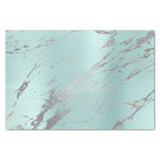 Papel De Seda Plata metalizada gris de mármol del azul de la