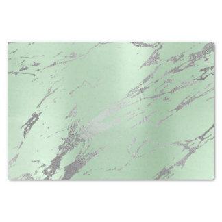 Papel De Seda Plata metalizada gris de mármol del oro de verde