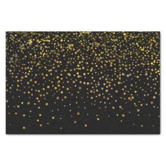 Papel De Seda Puntos negros elegantes modernos del confeti del