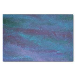 Papel De Seda Púrpura violeta azul verde azulada de la turquesa