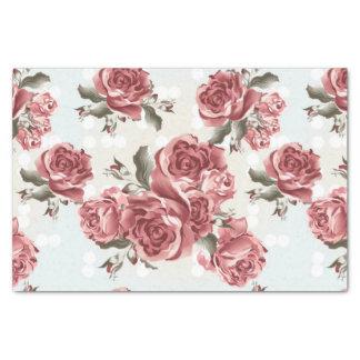 Papel De Seda Ramo dibujado romántico de los rosas rojos del