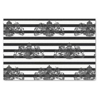 Papel De Seda Raya negra y blanca o negra y adaptable del color
