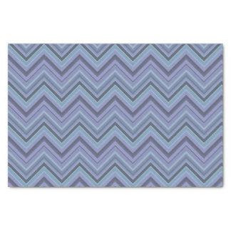 Papel De Seda rayas Azul-grises del zigzag