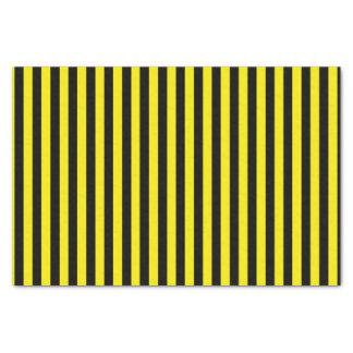 Papel De Seda Rayas negras y amarillas verticales