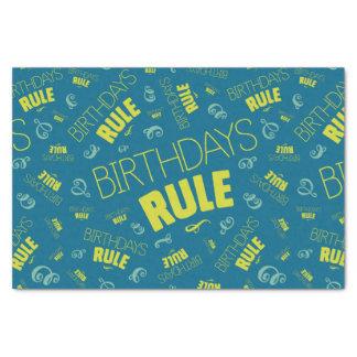 Papel De Seda Regla de los cumpleaños