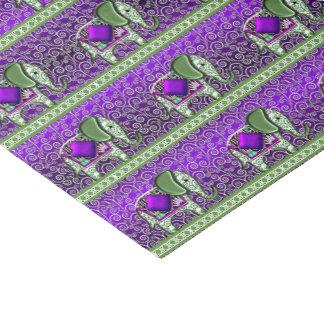 Papel De Seda Remolinos de la púrpura del paseo del elefante
