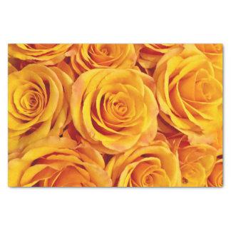 Papel De Seda Rosas amarillos llamativos