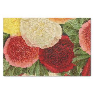 Papel De Seda Rosas amarillos rosados blancos rojos del vintage