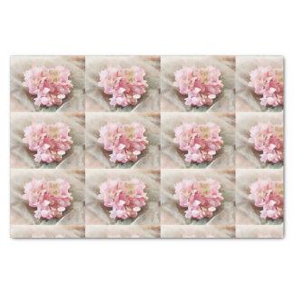 Papel De Seda Se ruborizan las tejas rosadas del Hydrangea del