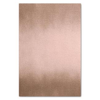 Papel De Seda Seda de cobre flaca metálica del bronce color de