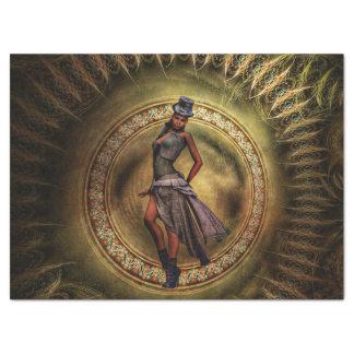 Papel De Seda señora B de Steampunk de la fantasía