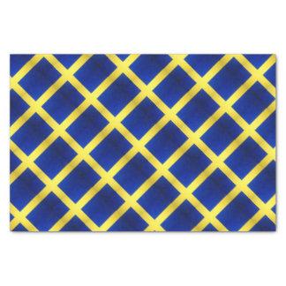 Papel De Seda Símbolo sueco apenado de la bandera
