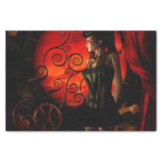 Papel De Seda Steampunk, señora maravillosa del steampunk en la