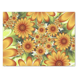 Papel De Seda Sueño floral, arte abstracto moderno del fractal