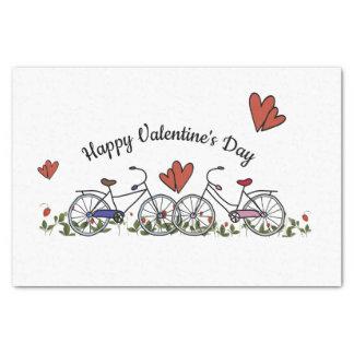 Papel De Seda Tarjeta del día de San Valentín de los amantes de
