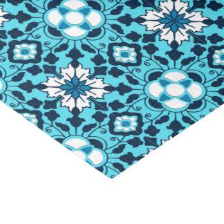 Papel De Seda Teja, añil, azul de cielo y blanco marroquíes