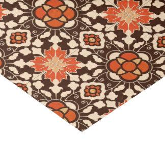 Papel De Seda Teja, Brown, moho y beige marroquíes florales