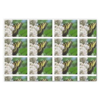 Papel De Seda Tejas blancas de las lilas de la mariposa amarilla