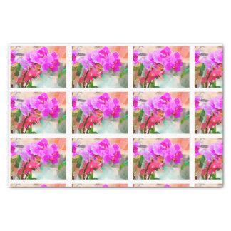 Papel De Seda Tejas de las orquídeas de la acuarela para el
