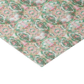 Papel De Seda Tejido color de rosa del medallón por