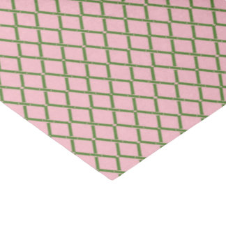 Papel De Seda Tejido de bambú rosado y verde por