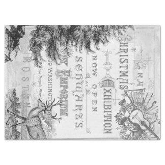 Papel De Seda Tejido de Decoupage de las Ephemeras del navidad