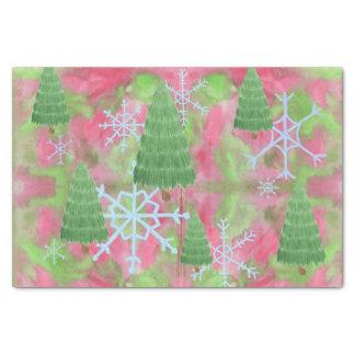 Papel De Seda Tejido del árbol de navidad
