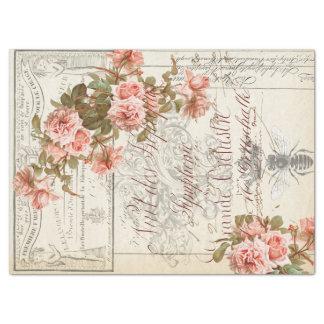 Papel De Seda Tejido floral de Decoupage de las Ephemeras