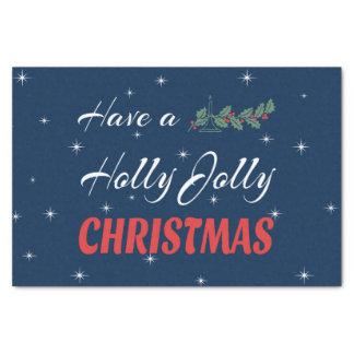 Papel De Seda Tenga navidad alegre de un acebo