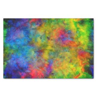 Papel De Seda [Teñido anudado atómico] colores psicodélicos del