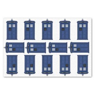 Papel De Seda Tiempo y espacio, friki azul del regalo de la caja