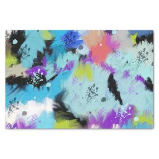 Papel De Seda Tonalidades artísticas de la acuarela abstracta