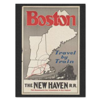 Papel De Seda Tren de ferrocarril de Boston New Haven del viaje