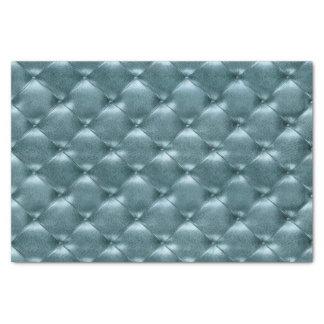 Papel De Seda Trullo de cuero copetudo metálico azul acuático de