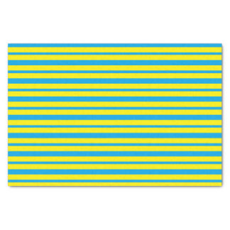Papel De Seda Turquesa gruesa y fina y rayas amarillas