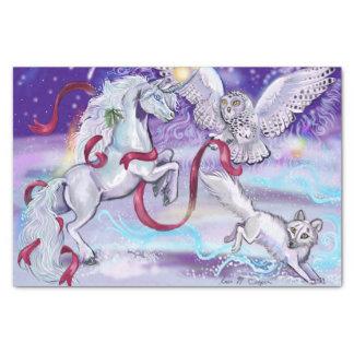 Papel De Seda Unicornio místico del invierno